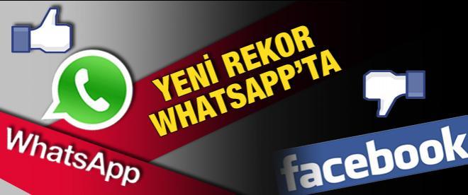 WhatsApp, Facebook'un rekorunu kırdı!