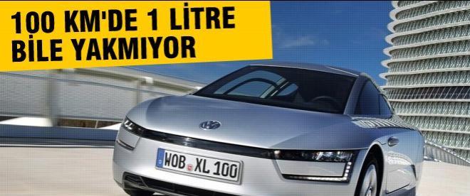 Volkswagen XL1 100 km'de 1 litre bile yakmıyor