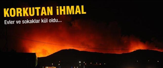 Petkim güvenlik sahası içinde orman yangını