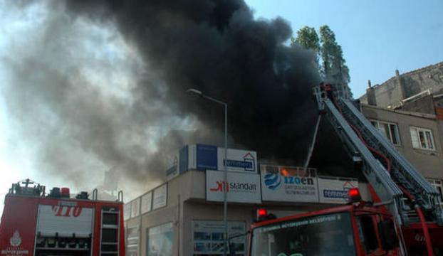 Bayrampaşadaki işyeri yangını