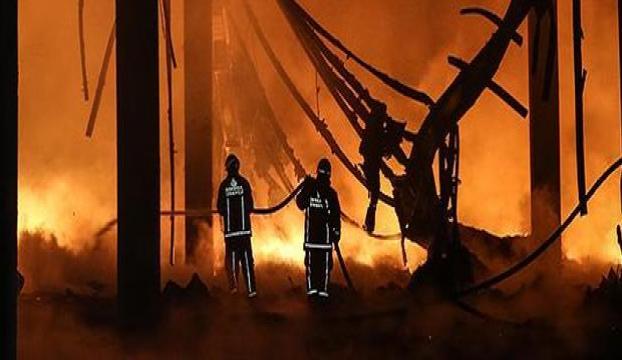 Malatyada fabrika yangını