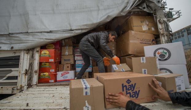 Halepe yardım kampanyası