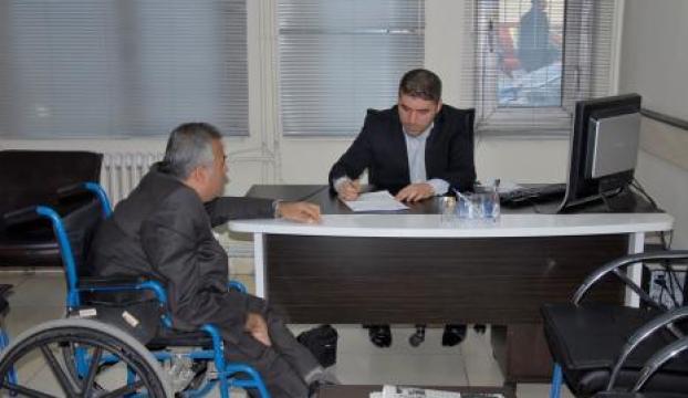 Yaşlı ve engelliler masası kuruldu