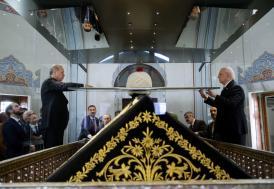 Cumhurbaşkanı Erdoğan Yavuz Sultan Selim'in türbesini ziyaret etti