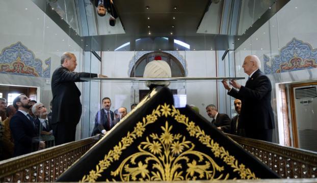 Cumhurbaşkanı Erdoğan Yavuz Sultan Selimin türbesini ziyaret etti