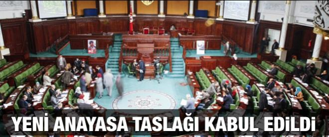 Yeni Anayasa taslağı kabul edildi