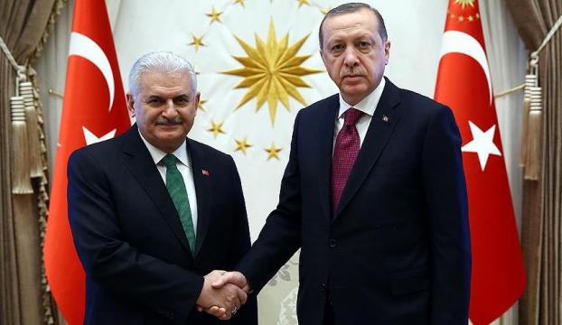 Cumhurbaşkanı Erdoğan ve Başbakan Yıldırımı kabul etti