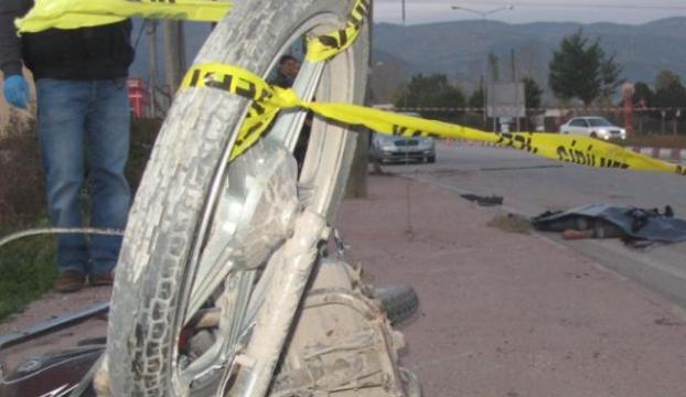 Yine motosiklet kazası ve yine kask yok