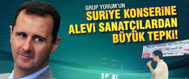 Grup Yorum'un Suriye konserine tepki!