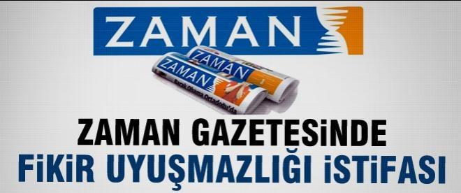 Zaman Gazetesi'nde istifa