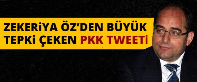 Zekeriya Öz'den büyük tepki çeken PKK tweeti