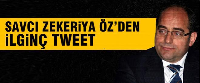 Zekeriya Öz'den ilginç tweet