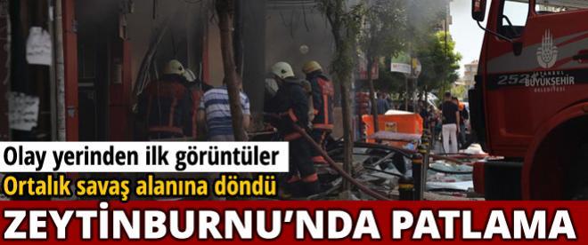 Zeytinburnu'nda patlama