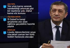 Milli Eğitim Bakanı Selçuk: Kovid-19 aşısı eğitimi yüz yüze yapmamızın önünü açacak