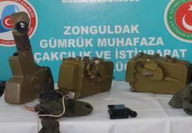 Zonguldak'ta antitank füzesi parçaları ele geçirildi