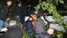 Zonguldak'ta cenaze dönüşü kaza