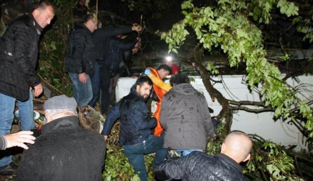 Zonguldakta cenaze dönüşü kaza